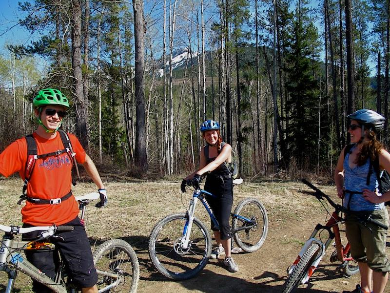 Biking Fernie- First ride of the season, third in total, on Dem Bones (definitely over my head ha!)